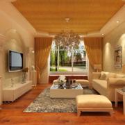 2016现代宜家欧式客厅背景墙装修效果图大全