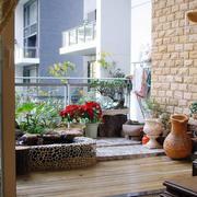 大型中式风格阳台效果图