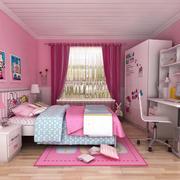 现代简约风格粉色系儿童房装饰