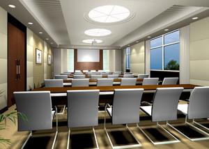 60平米现代简约风格会议室装修效果图