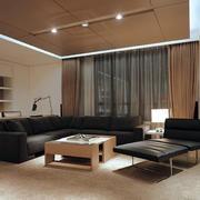 现代简约客厅样板间设计