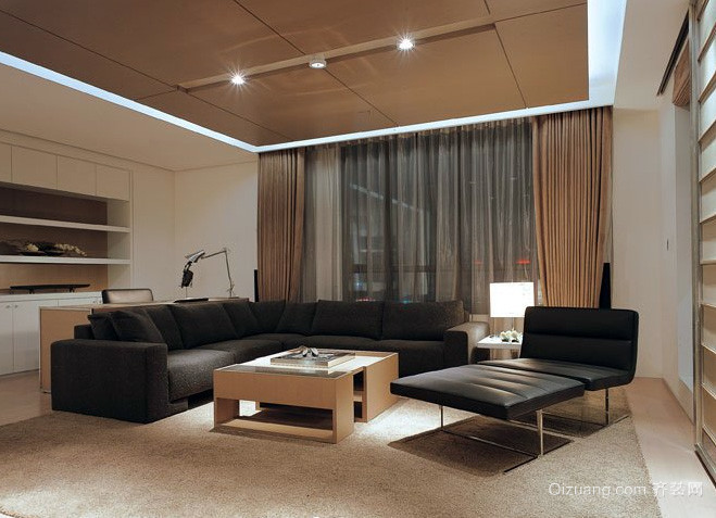 90平米现代简约风格样板房装修效果图