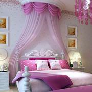粉色系公主风儿童房装饰