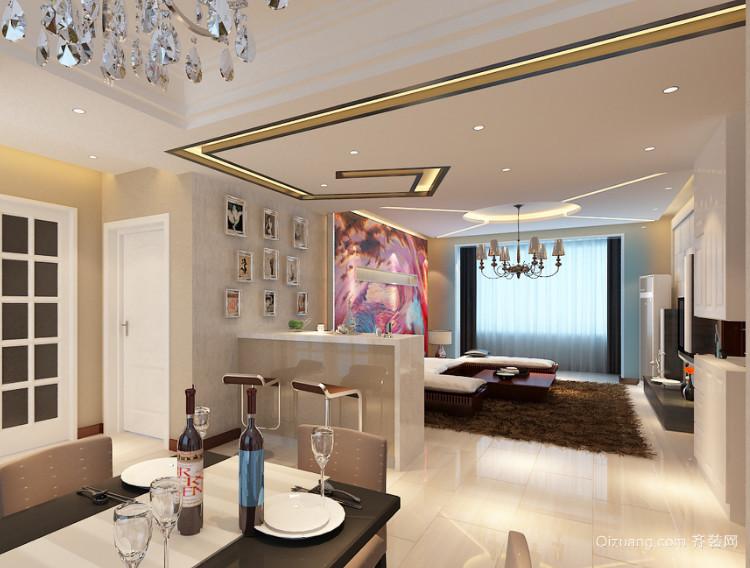 2016现代室内欧式大户型吧台装修效果图