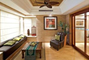 90平米东南亚简约风格客厅装修效果图