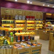 小型茶叶店实木产品展示柜台效果图