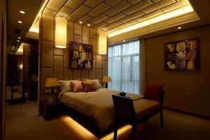 30平米东南亚风格奢华卧室装修效果图