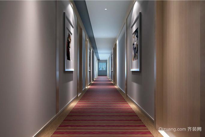 都市现代大户型宾馆走廊装修效果图