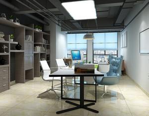 60平米都市创意简约办公室装修效果图