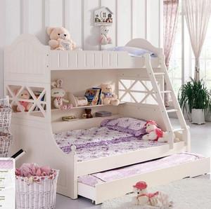 简欧20平儿童房公主高低床装修效果图片