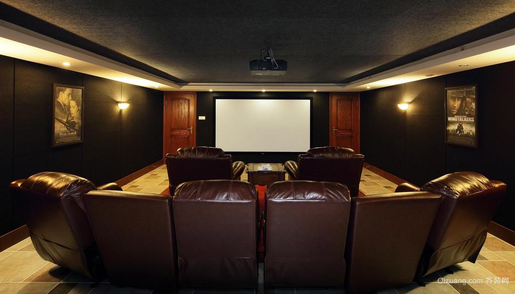 美式大户型别墅家庭影院装修效果图