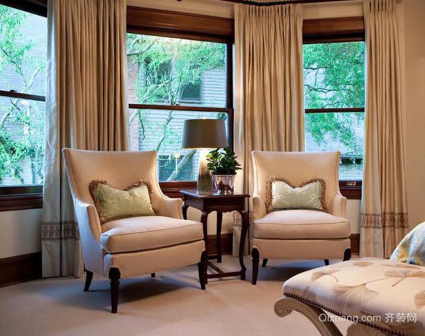 三室一厅东南亚风格卧室窗帘装修效果图