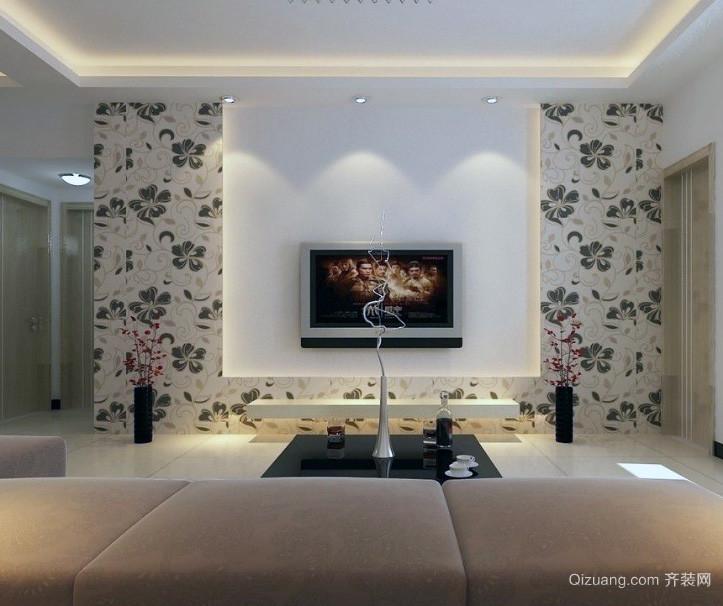 100平米大户型客厅欧式电视背景墙装修效果图