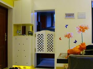 两室一厅现代简约田园风格鞋柜装修效果图