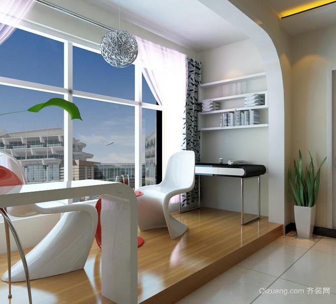 100平米唯美的大户型欧式阳台装修效果图欣赏