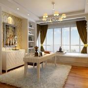 现代180平米家居书房飘窗装修设计效果图
