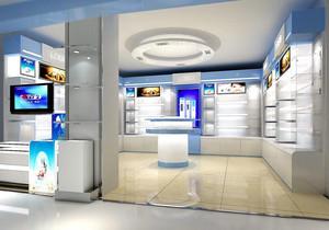 60平米亮丽化妆品店展示柜台装修效果图