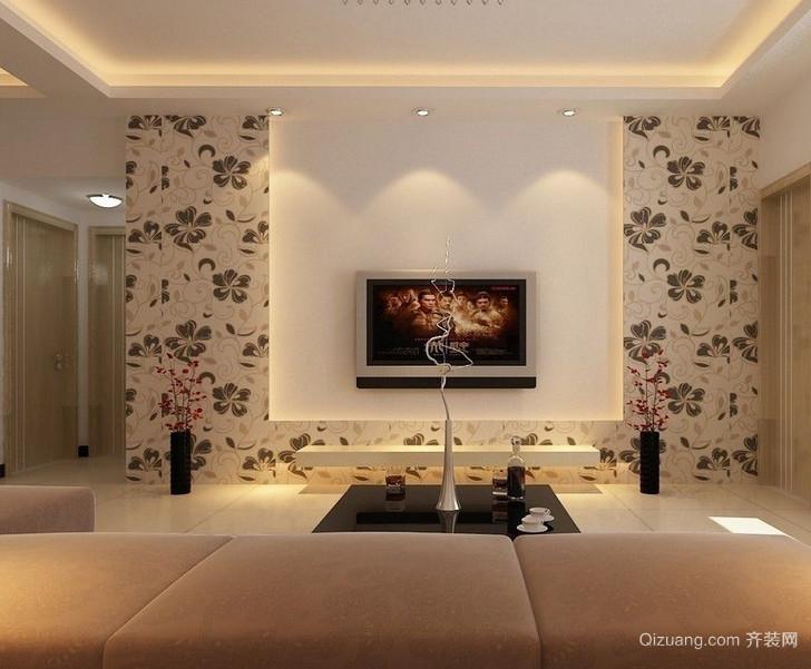 2016欧式大户型精美的电视墙背景装修效果图