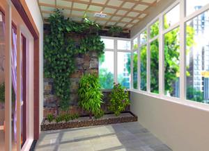 欧式烂漫款小户阳台护栏装修设计效果图