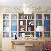 现代书房书柜设计图