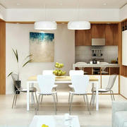 100平米房屋现代简约风格餐厅装修效果图
