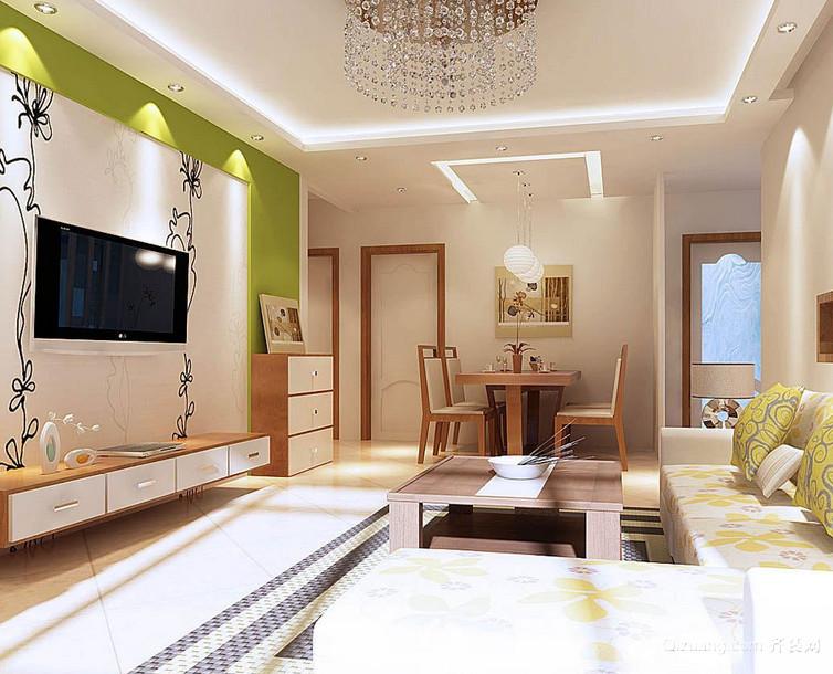 120平米大户型唯美时尚欧式客厅装修效果图