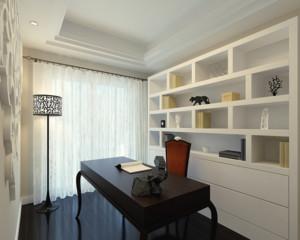 现代精致的大户型都市家庭小书房装修效果图