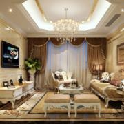 2016唯美精致大户型欧式客厅装修效果图欣赏
