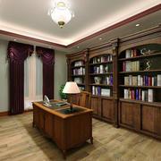 复式楼美式简约原木书房办公家具装修效果图