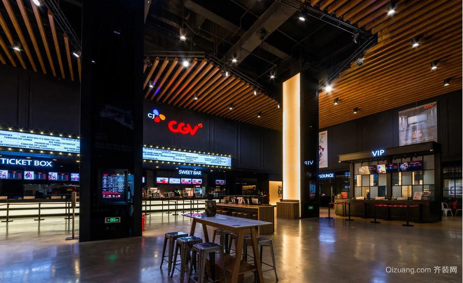 现代大户型影院等候区装修效果图