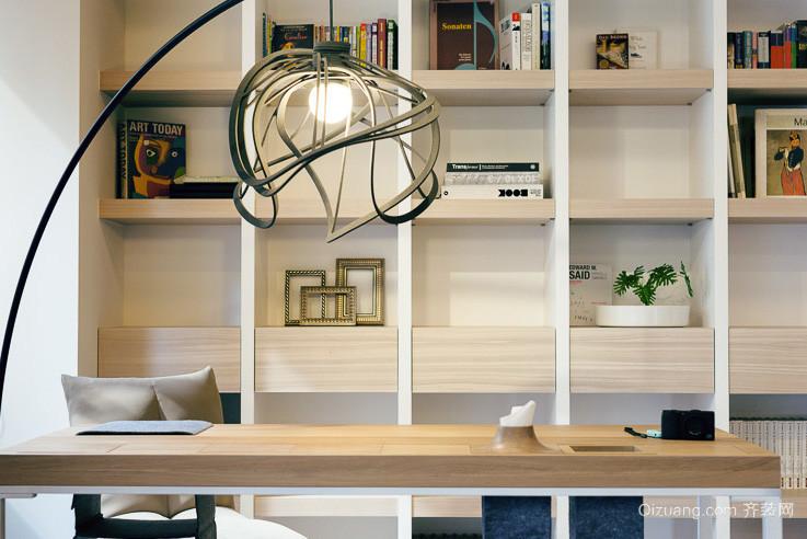 2016精美的小户型书房书架装修效果图实例