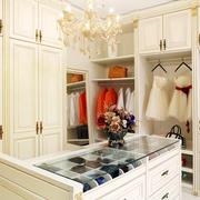 别墅欧式奢华风格整体衣柜装修效果图