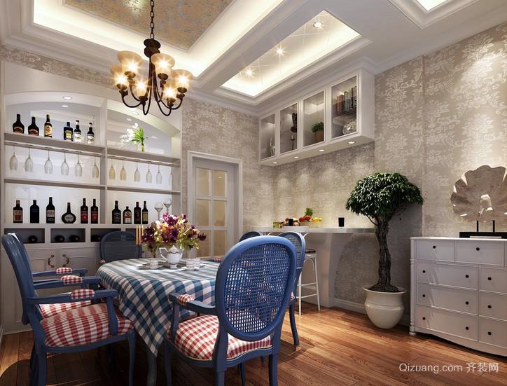 小户型别墅混搭餐厅酒柜效果图片大全