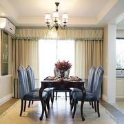 180平米美式优雅气质餐厅样板房装修效果图