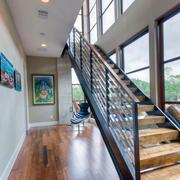 现代都市大别墅楼梯装修设计效果图