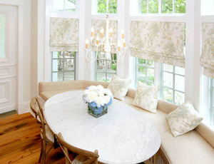 韩式清新风格飘窗窗帘装饰