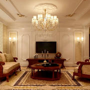 100平米房屋欧式客厅装饰
