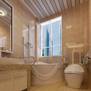 大户型欧式简约风格卫生间瓷砖装修效果图