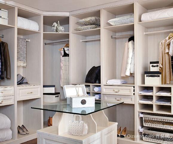 大户型现代简约风格衣帽间整体衣柜装修效果图