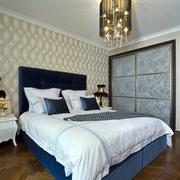 新古典卧室床头壁纸