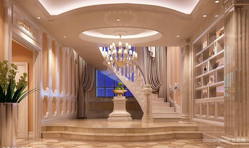 简欧400平别墅楼梯装修设计效果图