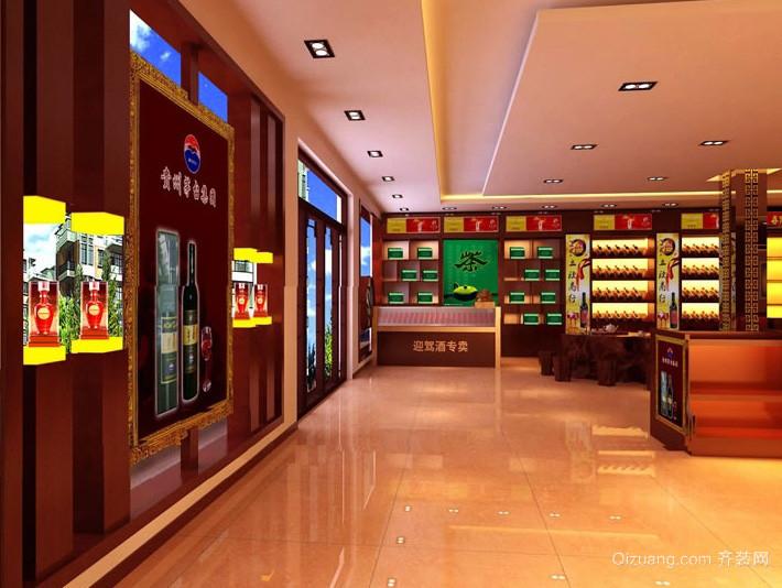 100平米现代烟酒超市装修设计效果图