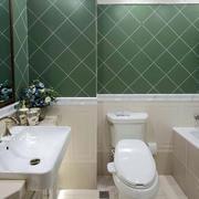 新古典卫生间绿色瓷砖