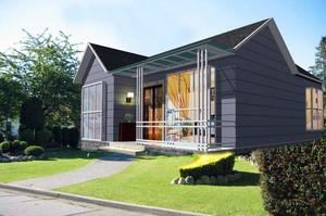 90平米小户型现代农村一层房屋设计图