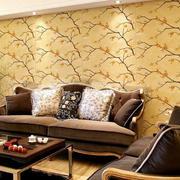 复式楼简约风格客厅沙发背景墙装修效果图