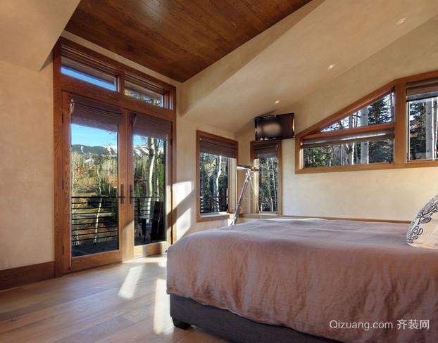 三室一厅美式简约风格卧室地板装修效果图