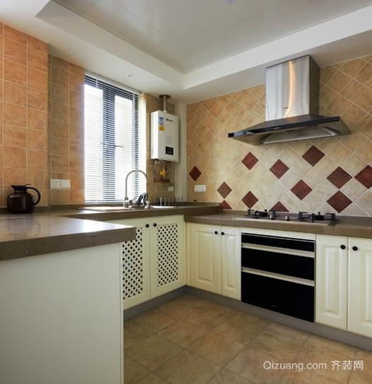 120平米复式楼韩式清新风格厨房瓷砖效果图