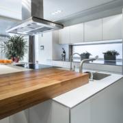 90平米大户型欧式开放式厨房装修效果图鉴赏