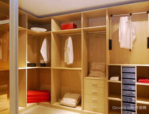 复式楼日式简约风格整体衣柜装修效果图