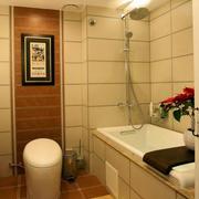 复式楼简欧风格卫生间瓷砖效果图